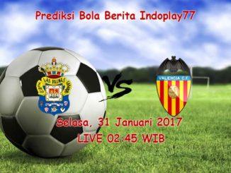 Berita Indoplay - Prediksi Las Palmas Vs Valencia Selasa, 31 Januari 2017. Pertandingan La Liga Spanyol antara Las Palmas Vs Valencia di Stadion Gran Canaria, pada pukul 02:45 WIB.