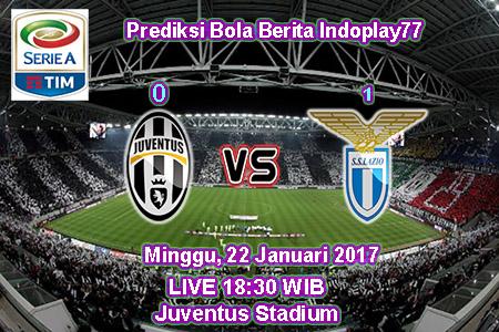 Berita Indoplay - Prediksi Juventus Vs Lazio Minggu, 22 Januari 2017. Pertandingan Italy Serie A antara Juventus Vs Lazio di Juventus Stadium, pada pukul 18:30 WIB.