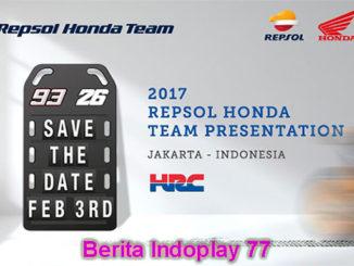 Berita Indoplay - Jakarta Akan Menjadi Tempat Lounching Repsol Honda RC213V. Tim Repsol Honda telah resmi memilih Indonesia sebagai tempat perdana peluncuran motor baru untuk musim MotoGP 2017. Pada kali ini tempat yang telah di pilih resmi adalah Jakarta.