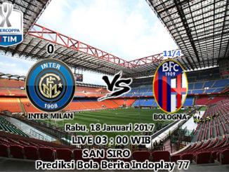 Berita Indoplay - Prediksi Inter Milan Vs Bologna, Rabu 18 Januari 2017. Pertandingan Coppa Italia antara Inter Milan Vs Bologna di Stadion San Siro pada pukul 03 : 00 WIB dini hari.