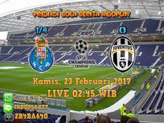 Berita Indoplay - Prediksi FC Porto Vs Juventus Kamis, 23 Februari 2017. Pertandingan babak 16 besar Liga Champions antara FC Porto Vs Juventus di Do Dragão Stadium pada pukul 02:45 WIB dini hari.