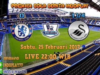 Berita Indoplay - Prediksi Chelsea Vs Swansea City Sabtu, 25 Februari 2017. Pertandingan Liga Inggris Premier antara Chelsea Vs Swansea City di Stamford Bridge Stadium pada pukul 22:00 WIB.