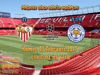Berita Indoplay - Prediksi Sevilla Vs Leicester City Kamis, 23 Februari 2017. Pertandingan babak 16 besar Liga Champions antara Sevilla Vs Leicester City di Ramón Sánchez Pizjuán Stadium pada pukul 02:45 WIB dini hari.