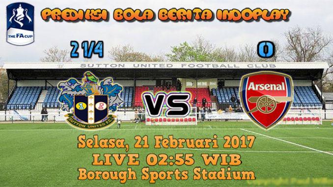 Berita Indoplay - Prediksi Sutton United Vs Arsenal Selasa, 21 Feb 2017. Pertandingan FA Cup antara Sutton United Vs Arsenal di Borough Sports Stadium pada pukul 02:55 WIB.