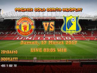 Berita Indoplay - Prediksi Skor Man United Vs FC Rostov 17 Maret 2017. Pertandingan Liga UEFA babak 16 besar leg kedua kali ini akan mempertemukan Man United kontra FC Rostov yang akan berlangsung di Stadion Old Trafford pada pukul 03:05 WIB dini hari.