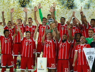 Agen Bola Online - Bayern Munchen Juara Super Cup 2017. DFL Super Cup 2017 mempertemukan Borussia Dortmund kontra Bayern Munchen yang berlangsung di Signal Iduna Park pada Minggu (06/8/2017).