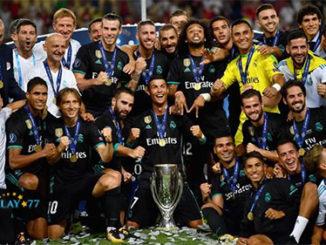 Agen Bola Online - Real Madrid Pertahankan Gelar Piala Super Eropa. El Real berhasil mempertahankan gelar Piala Super Eropa setelah menang tipis dari Manchester United dengan skor 2-1 yang berlangsung di Nacional Arena Filip IIm Rabu (09/08) dini hari.