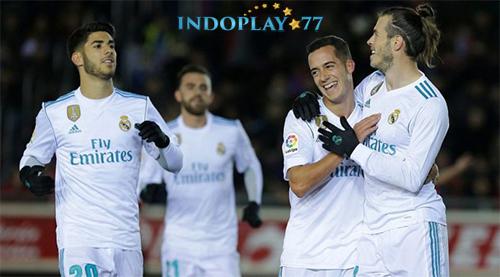 Agen Bola Online- Cuplikan Gol Numancia 0 - 3 Real Madrid Copa Del Rey. Real Madrid berhasil mencuri kemenangan pada laga perempat Final leg pertama Copa Del Rey usai mengalahkan Numancia klub dari Segunda Division. Pada pertandingan ini Los Blancos menang 3-0 saat bertamu ke markas besar Numancia di Los Pajaritos, Jumat (05/01) dini hari.