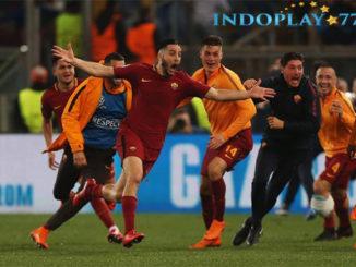 AS Roma Lolos Ke Semifinal Usai Kalahkan Barcelona 3 - 0. Pertandingan leg kedua laga perempat final Liga Champions antara AS Roma vs Barcelona berhasil di menangkan oleh Roma dengan skor 3-0. AS Roma pun akhirnya lolos ke babak semifinal karna mereka sempat mencetak satu gol pada leg pertama di kandang Barcelona.