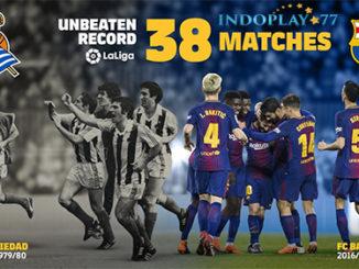 Epic! Barcelona Belum Terkalahkan Di 38 Pertandingan La Liga. Pertandingan ke-31 La Liga Spanyol antara Barcelona vs Leganes yang berlangsung di Camp Nou, Minggu (08/04) dini hari berhasil di menangkan oleh Barcelona dengan skor akhir 3-1. Lionel Messi mencetak 3 gol alias hattrick dan 1 gol Leganes di ciptakan Nabil El Zhar.